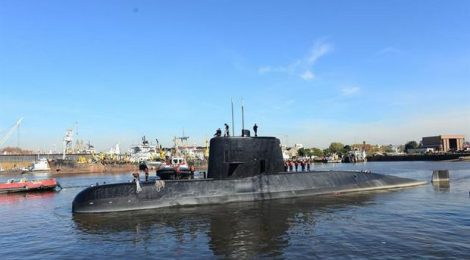 Busca por submarino argentino detecta sinal importante no fundo do mar