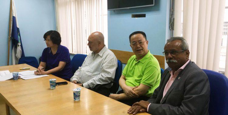 Diretor Presidente do SINDMESTRES acompanha visita de sindicalistas chineses no Estado