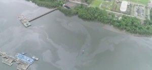 Marinha investiga mancha de óleo no Porto de Santos