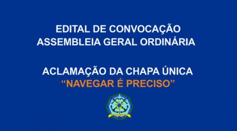 Edital de Convocação AGO - Aclamação da Chapa Única