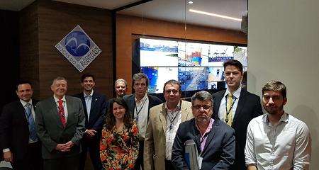 Membros do CONSAD visitam a nova estrutura de segurança do Porto do Rio de Janeiro