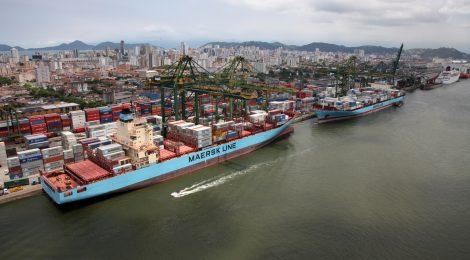Terminal de Contêineres amplia movimentação em 23,4% no Porto de Santos