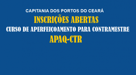 Inscrições Abertas APAQ-CTR