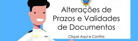 Alterações de Prazos e Validades de Documentos