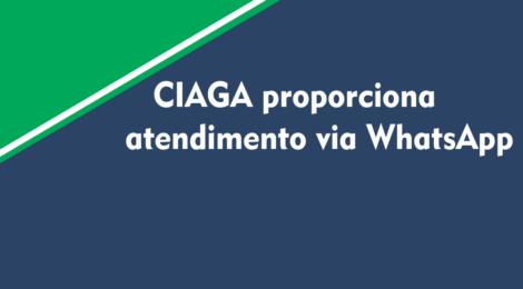 CIAGA proporciona atendimento via WhatsApp