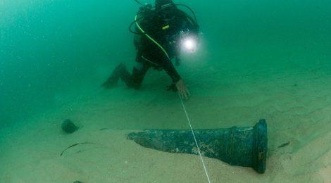 Encontrado navio que naufragou há 4 séculos em Portugal