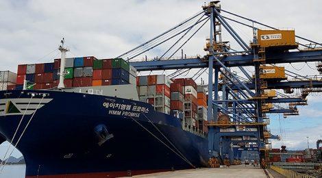 TCP recebe super navio com capacidade para 11 mil TEUs