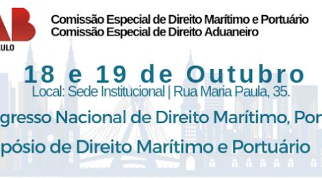 SP sedia congresso sobre direito marítimo, portuário e aduaneiro
