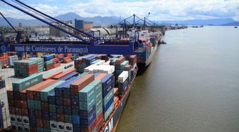 Obras ampliam capacidade de embarque no Porto de Paranaguá